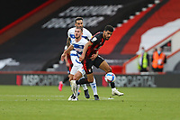 Football - 2020 / 2021 Sky Bet Championship - AFC Bournemouth vs. Queens Park Rangers - The Vitality Stadium<br /> <br /> Bournemouth's Dominic Solanke tries to wriggle free from Dominic Ball of Queens Park Rangers during the Championship match at the Vitality Stadium (Dean Court) Bournemouth <br /> <br /> COLORSPORT/SHAUN BOGGUST