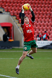 Frank Fielding of Bristol City in action during the warm up - Photo mandatory by-line: Rogan Thomson/JMP - 07966 386802 - 20/12/2014 - SPORT - FOOTBALL - Crewe, England - Alexandra Stadium - Crewe Alexandra v Bristol City - Sky Bet League 1.