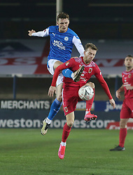 Jack Taylor of Peterborough United battles for the ball against Chorley - Mandatory by-line: Joe Dent/JMP - 28/11/2020 - FOOTBALL - Weston Homes Stadium - Peterborough, England - Peterborough United v Chorley - Emirates FA Cup second round