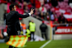 April 30, 2018 - Na - Lisboa, 04/28/2018 - Sport Lisboa Benfica received this afternoon at Estádio da Luz Tondela in the 32nd Match of the first Liga NOS. Epoca 2017 / 2018. Rui Vitória  (Credit Image: © Atlantico Press via ZUMA Wire)