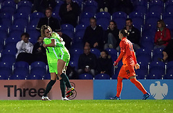 Wolfsburg's Tabea Wassmuth (centre) celebrates scoring their side's third goal of the game following an error from Chelsea goalkeeper Ann-Katrin Berger during the UEFA Women's Champions League group A match at Kingsmeadow, Kingston. Picture date: Wednesday October 6, 2021.