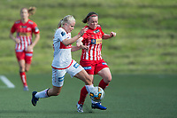 Fotball<br /> 12.06.2015<br /> Toppserien<br /> NM kvinner 3. runde<br /> Sandviken - Avaldsnes<br /> Marie Bakke (L) , Sandviken<br /> Lisa Marie Woods (R) , Avaldsnes<br /> Foto: Astrid M. Nordhaug, Digitalsport