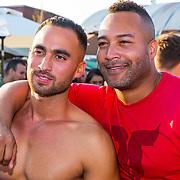 NLD/Amsterdaml/20180902 - Everon Jackson Hooi Lanceert boxerliijn  IAMTORO, Everon Jackson Hooi en partner Jozua Augusto Suitela