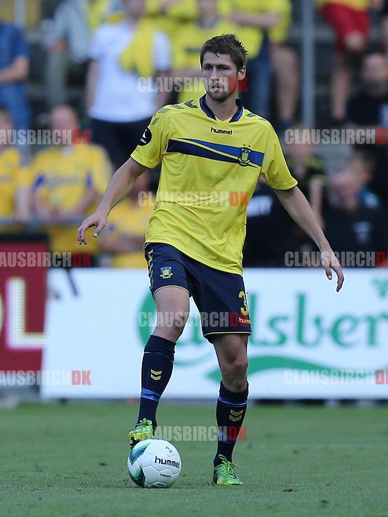 FODBOLD: Fredrik Semb (Brøndby) under træningskampen mellem Brøndby IF og Bolton Wanderers FC den 10. juli 2014 på Brøndby Stadion. Foto: Claus Birch