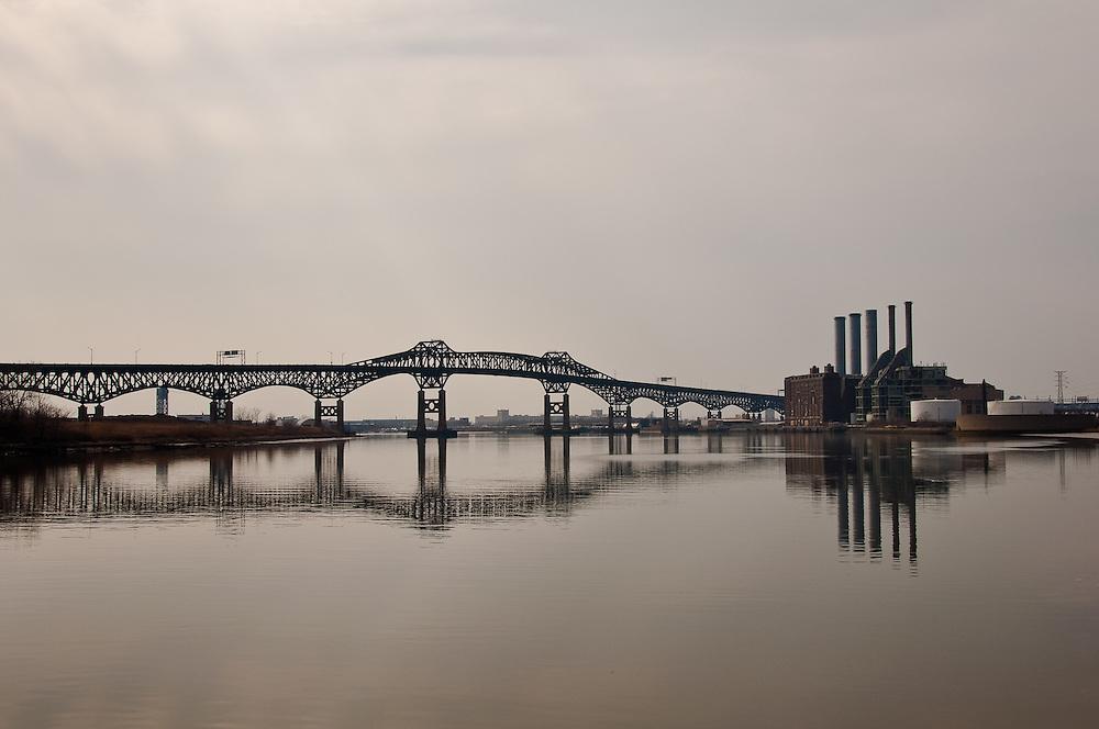 Pulaski Skyway & Power Plant<br /> Kearney, New Jersey