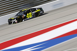 November 3, 2018 - Ft. Worth, Texas, United States of America - Jimmie Johnson (48) takes to the track to practice for the AAA Texas 500 at Texas Motor Speedway in Ft. Worth, Texas. (Credit Image: © Justin R. Noe Asp Inc/ASP via ZUMA Wire)