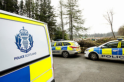 Pictured: A full scale incident was declared earlier today (1.5.17) at Beecraigs Country Park near Linlithgow.  reports of a woman threatening to take her own life and hiding in the woods at the country park prompted a large scale response with several police cars, ambulances, fire and rescue services and Police Scotland helicopter raced to the scene. After talks the woman was taken to hospital unharmed.<br /> Andrew West/ EEm