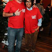 NLD/Amsterdam/20111208- Sky Radio Christmas tree for Charity, Dean Saunders en Shary Ann