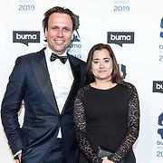 NLD/Hilversum/20190311  - Uitreiking Buma Awards 2019, Martijn Schimmer en partner
