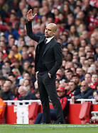 Manchester City's Pep Guardiola in action during the Premier League match at the Emirates Stadium, London. Picture date: April 2nd, 2017. Pic credit should read: David Klein/Sportimage
