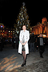 LILY COLE at a Winter Party given by Tiffany & Co. Europe to launch the 10th season of Somerset House's Ice Skating Rink at Somerset House, The  Strand, London on 16th November 2009.