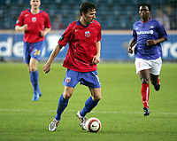 Fotball, 16. september 2005,  UEFA cup ,<br /> Vålerenga - Steaua Bucuresti<br /> Victoras Constantin Lacob , Steaua