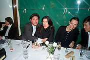 GEORGE VERONI AND ISABEL KRISTENSEN Exhibition of work by Marc Newson at the Gagosian Gallery, Davies st. London. afterwards at Mr. Chow, Knightsbridge. 5 March 2008.  *** Local Caption *** -DO NOT ARCHIVE-© Copyright Photograph by Dafydd Jones. 248 Clapham Rd. London SW9 0PZ. Tel 0207 820 0771. www.dafjones.com.