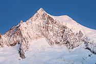 The peak of the Aletschhorn, Aletsch area, Valais, Switzerland