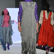 Designer Michelle Mcauley at the Best of Graduate Fashion Week showcases at the Graduate Fashion Week 2018, June 6 2018 at Truman Brewery, London, UK.