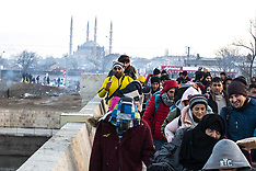 Refugees wait to try and cross Greek border - 1 March 2020