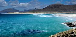The beach at Seilebost, Isle of Harris, Outer Hebrides, Scotland. The island of Taransay can be seen on the left.<br /> <br /> (c) Andrew Wilson | Edinburgh Elite media