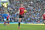 Barnsley Defender, Liam Lindsay (6) during the EFL Sky Bet League 1 match between Portsmouth and Barnsley at Fratton Park, Portsmouth, England on 23 February 2019.