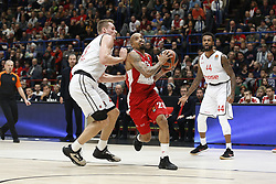 November 17, 2017 - Milan, Milan, Italy - Jordan Theodore (#25 AX Armani Exchange Milan) drives to the basket during a game of Turkish Airlines EuroLeague basketball between  AX Armani Exchange Milan vs Brose Bamberg at Mediolanum Forum, on November 17, 2017 in Milan, Italy. (Credit Image: © Roberto Finizio/NurPhoto via ZUMA Press)