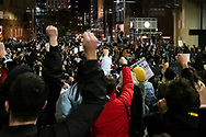 Protesters put their fists in the air at Martin Place during a 'Black Lives Matter' rally on 02 June, 2020 in Sydney, Australia. This event was organised to rally against aboriginal deaths in custody in Australia as well as in unity with protests across the United States following the killing of an unarmed black man George Floyd at the hands of a police officer in Minneapolis, Minnesota. (Photo by Lucca Markham/ Speed Media)
