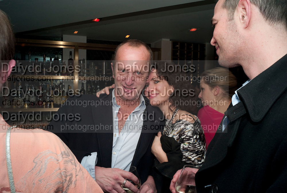 JOHNNIE SHAND KYDD; MOLLIE DENT-BROCKLEHURST, Polly Morgan 30th birthday. The Ivy Club. London. 20 January 2010