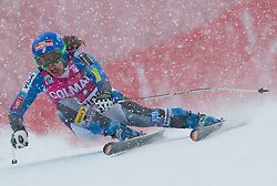 20.01.2013, Olympia delle Tofane, Cortina d Ampezzo, ITA, FIS Weltcup Ski Alpin, Super G, Damen, im Bild Leanne Smith (USA) // Leanne Smith of the USA in action during the ladies Super G of the FIS Ski Alpine World Cup at the Olympia delle Tofane course, Cortina d Ampezzo, Italy on 2013/01/20. EXPA Pictures © 2013, PhotoCredit: EXPA/ Johann Groder