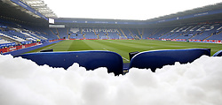 Snow lying stand side before the game between Leicester City and AFC Bournemouth