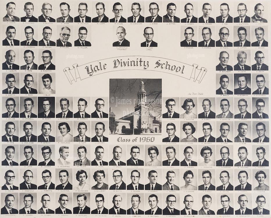 1960 Yale Divinity School Senior Portrait Class Group Photograph