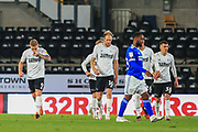 GOAL 1 - 0  Martyn Waghorn of Derby County  (9) scores during the EFL Sky Bet Championship match between Derby County and Cardiff City at the Pride Park, Derby, England on 28 October 2020.