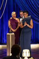 Jamika Wilson, Sergio Lopez-Rivera and Mia Neal accept the Oscar® for Makeup and Hairstyling during the live ABC Telecast of The 93rd Oscars® at Union Station in Los Angeles, CA, USA on Sunday, April 25, 2021. Photo by Todd Wawrychuk/A.M.P.A.S. via ABACAPRESS.COM
