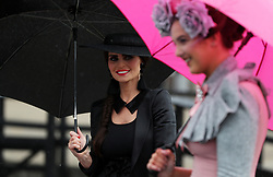 Michelle Fallon, from Newbridge, (left) during day four of the Punchestown Festival 2018 at Punchestown Racecourse, County Kildare.
