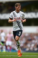 Jan Vertonghen of Tottenham Hotspur looking on. Barclays Premier league match, Tottenham Hotspur v Stoke city at White Hart Lane in London on Saturday 15th August 2015.<br /> pic by John Patrick Fletcher, Andrew Orchard sports photography.