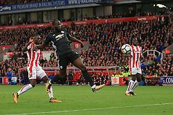 9 September 2017 -  Premier League - Stoke City v Manchester United - Romelu Lukaku of Manchester United misses the target from close range - Photo: Marc Atkins/Offside
