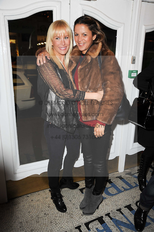 Left to right, NORMANDIE KEITH and LISA MOORISH at an In-House screening of 'Sweet Smell of Success' hosted by Clive Owen presented by Tod's in association with Amend held at The Electric Cinema, 191 Portobello Road, London W11 on 29th November 2010.