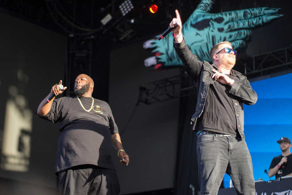 Run The Jewels perform at Lollapalooza in Chicago, IL on August 4, 2017.