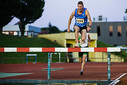 Matevz Cimermancic competes in 3000m Steeplechase during day one of the 2020 Slovenian Cup in ZAK Stadium on July 4, 2020 in Ljubljana, Slovenia. Photo by Grega Valancic / Sportida