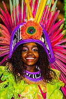 Mangueira do Amanha (Mangueira of Tomorrow) samba school performs in the children's Carnaval Parade, Sambadrome, Rio de Janeiro, Brazil.