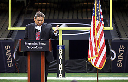 04 October 2011. New Orleans, Louisiana, USA.  <br /> Mercedes-Benz USA President and CEO Ernst Leib. NFL's New Orleans Saints announce a multi million dollar deal with Mercedes-Benz for naming rights on the Louisiana Superdome. Now the Mercedes-Benz Superdome.  <br /> Photos; Charlie Varley