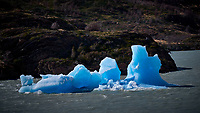 Floating Ice in Rio Grey. Lago Grey Hotel, Torres del Paine National Park. Image taken with a Fuji X-T1 camera and 23 mm f/1.4 lens