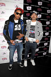 Left to right, PHARRELL WILLIAMS and designer NIGO at a party to celebrate the launch of Billionaire Boys Club Ice Cream Season 7 at Harvey Nichols, Knightsbridge, London on 18th June 2008.<br /><br />NON EXCLUSIVE - WORLD RIGHTS