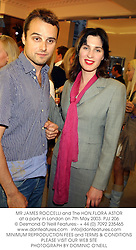 MR JAMES ROCCELLI and The HON.FLORA ASTOR at a party in London on 7th May 2003.	PJJ 206