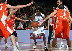 Corey Brewer (31) of Zadar during first semi-final match of Basketball NLB League at Final four tournament between KK Zadar, Croatia and Hemofarm Stada, Vrsac, Serbia, on April 25, 2008, in Arena Tivoli in Ljubljana. Match was won by Hemofarm Stada, who defeated KK Zadar with 81:72. (Photo by Vid Ponikvar / Sportal Images)