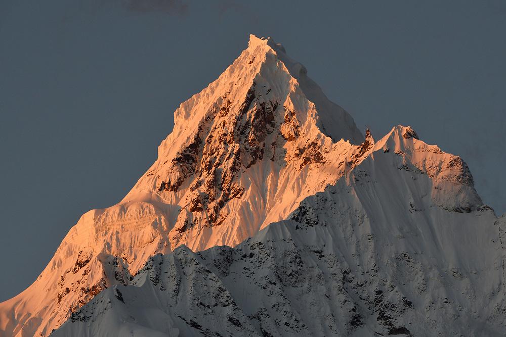 Miancimu Peak, 6054 m, in the Meili Snow Mountain National park, Yunnan China.