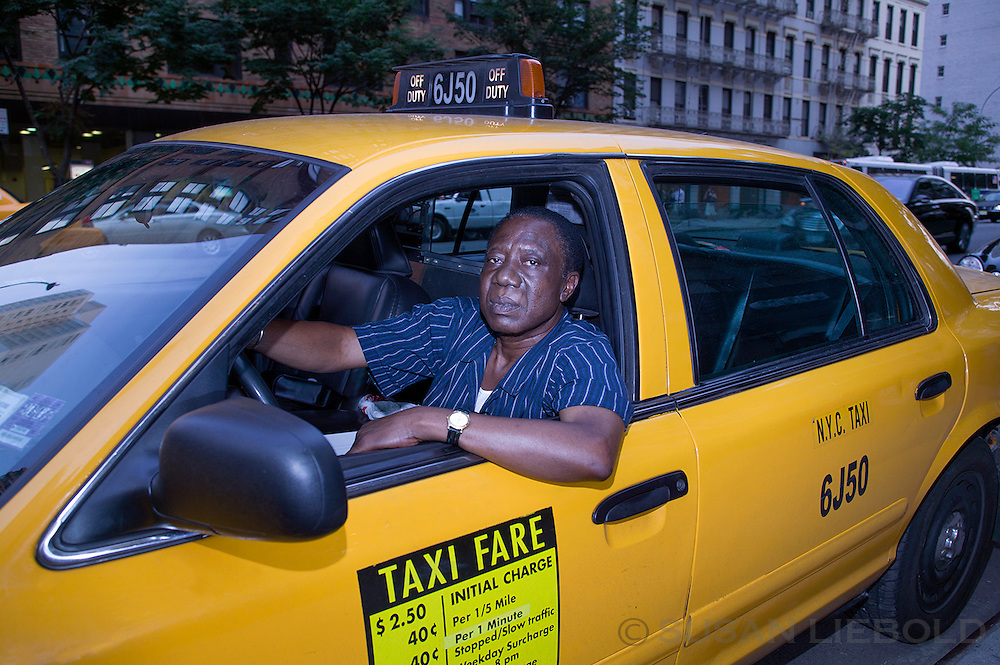 Ibrahim, a taxi driver from Ghana.