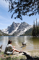 A lesser-known Slide Lake is the one in the Bridger Wilderness of the Wind River Mountains. Towering granite peaks mirrored in alpine lakes reward hikers with spectacular views.