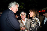 HENRY WYNDHAM; NICKY HASLAM; DEBBIE VON BISMARCK, The Summer Party. Hosted by the Serpentine Gallery and CCC Moscow. Serpentine Gallery Pavilion designed by Frank Gehry. Kensington Gdns. London. 9 September 2008.  *** Local Caption *** -DO NOT ARCHIVE-© Copyright Photograph by Dafydd Jones. 248 Clapham Rd. London SW9 0PZ. Tel 0207 820 0771. www.dafjones.com.