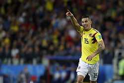 July 3, 2018 - Moscou, Rússia - MOSCOU, MO - 03.07.2018: COLOMBIA VS ENGLAND - Mateus URIBE of Colombia during the match between Colombia and England, valid for the eighth round of the 2018 World Cup held at the Spartak Stadium in Moscow, Russia. (Credit Image: © Rodolfo Buhrer/Fotoarena via ZUMA Press)