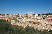 Cala Anguila. Appartment houses under construction.