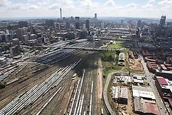 JOHANNESBURG, SOUTH AFRICA - NOVEMBER 20: An aerial view shows Nelson Mandela Bridge and around in Johannesburg, South Africa on November 20, 2016. Shiraaz Mohamed / Anadolu Agency    BRAA20161120_622 Johannesburg Afrique du Sud South Africa