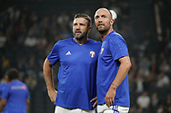 Vincent Candela (France 98) and Christophe Dugarry (France 98) during the 2018 Friendly Game football match between France 98 and FIFA 98 on June 12, 2018 at U Arena in Nanterre near Paris, France - Photo Stephane Allaman / ProSportsImages / DPPI